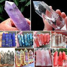 Rare Natural Fluorite Amethyst Gem Crystal Quartz Rough Point Column Polished