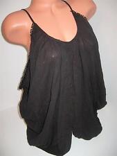 NEW VICTORIA'S SECRET BLACK SIDE COWL POOL SWIMSUIT COVER UP BEACH DRESS XS M