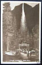 YOSEMITE CA~1940's CAMP CURRY ~ FIRE FALL~ RPPC