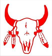 Indianer Symbol, Büffelschädel, Aufkleber freihstehend, Folienschnitt