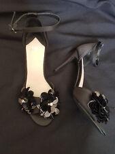 Faith - Black 'Lolo' high stiletto heel ankle strap sandals