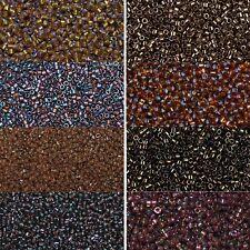 Miyuki Delica Beads rund 11/0 1,6mm dunkelbraun, bonze, dunkeltopaz, taupe a 5 g