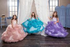 2018 Flower Girls Princess Dresses Wedding Bridesmaid Birthday Communion Pageant