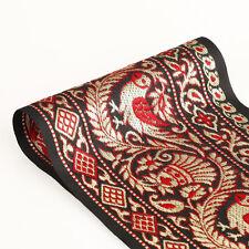 Neotrim 13.5cm Ampiezza Vintage Nero Oro Indiano Decorativo Salwar Sari