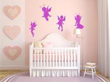 WANDTATTOO Fairy Elfen FEEN Set 4 Stück Wandsticker Aufkleber Kinderzimmer