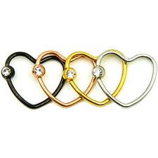 Corazón Piercing Septum Bcr Heart Labios Piedra Tragus Ring Oreja Íntimo de