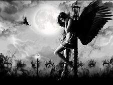 DARK SAD ANGEL GOTHIC Art Silk Poster 12x18 24x36