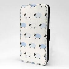 Phone Flip Case Cover Sheep Blue Pattern - S1493