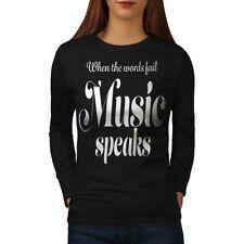 Music Speaks Word Fail Women Long Sleeve T-shirt NEW   Wellcoda