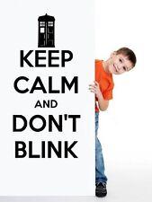 """""""Keep Calm and Don't BLINK"""" - Doctor Who in Vinile Adesivi Da Parete alta qualità nuovo Regno Unito"""