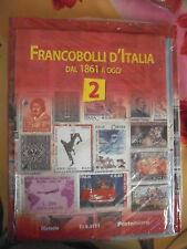 FRANCOBOLLI D'ITALIA DAL 1861 A OGGI - FASCICOLO N° 2 + ALBUM AD ANELLI