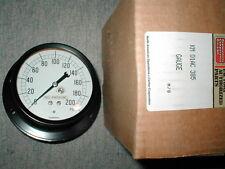 """Carrier By Marsh KM-01AC-385 Oil Pressure Gauge NIB 0-200 3.5"""" 1/4 NPT H1854"""