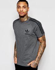 Adidas Mens California Stripe Gym Casual T-Shirt Crew Neck Short Sleeve Tee