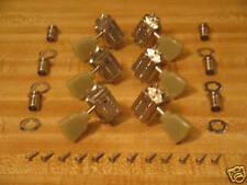 Gibson Schaller Era Nickel Deluxe Tuners w/ Green Keys & Mounts