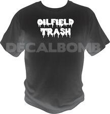OILFIELD TRASH dripping oil T-Shirt - miner tee