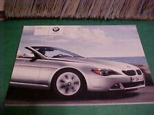2004 BMW 6 SERIES CONVERTIBLE 645CI AUTOMOBILE BOOK