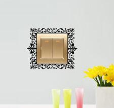 Commutateur lumière cadeau jolie maison home wall art decal sticker scroll damassé