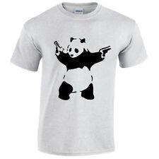 Panda Banksy para hombre Camiseta Camiseta Gracioso Arte Urbano Graffiti Hipster De Moda