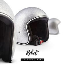 REBEL R2 FLAKES S Jet-Helm Vespa Bandit Motorrad-Helm Roller Chopper XS S M L XL