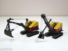 Both (2) Bucyrus Erie 22B Cable Excavator & Shovel  -1/50 - EMD #T001 & T002