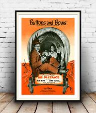 Botones Y Moños Bob Hope, Vintage Tapa De Revista Poster Publicitario la reproducción.
