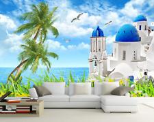 3D Garten Meer Kirche 7 Tapete Wandgemälde Tapete Tapeten Bild Familie DE Summer