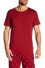 Polo Ralph Lauren Men's Dark Red Crew-Neck Short Sleeve Lounge T-Shirt
