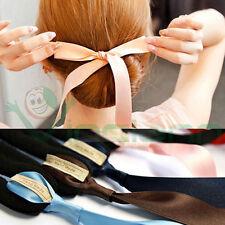 Banda chignon twist supporto ciambella nastro fiocco acconciatura capelli donna