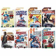 Hot Wheels Marvel Captain America DJK75 8 Fahrzeuge Komplette Sammlung NEU & OVP