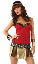 gladiateur déguisement GUERRIER ROMAIN Spartan Prêt pour GUERRE bustier or Jupe