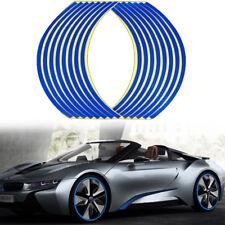 16 Strips Blue Reflective Sticker Car Motorcycle Wheel Hub Tire Rims Sticker