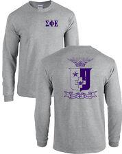 Sigma Phi Epsilon Fraternity Crest Long Sleeve SigEp Shirt - MANY COLORS