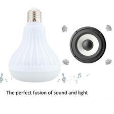 LED Wireless Bluetooth Bulb Light Speaker 12W RGB Smart Music Play Lamp MT