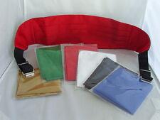 Para Hombre Poliéster Faja +1 Gratis pañuelo rojo en azul, rojo, blanco, verde, negro u oro