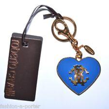 ROBERTO CAVALLI LOGO HEART KEY RING BAG CHARM BNWT BOX