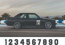 DEKRA sticker number sticker number all models BMW Lancia racing number