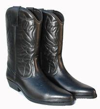 Homme neuf authentique en cuir souple haut noir western cowboy boots style 3000