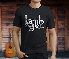 New LAMB OF GOD Metal Rock Band Men's Black T-Shirt Size S-3XL