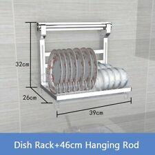 Stainless Steel Shelf Dish Racks Pan Cover Lid Storage Kitchen Organanizer Tools
