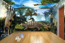 3D Triceratops Dinosaur Wall Murals Wallpaper Paper Art Print Decor