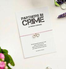 Partners in Crime wish bracelet, Friends Forever Gift, Handcuffs Charm Bracelet