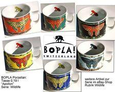 APOLLON BOPLA Wild Life Porzellan Kaffeetasse 0,18l SCHMETTERLING FARBAUSWAHL
