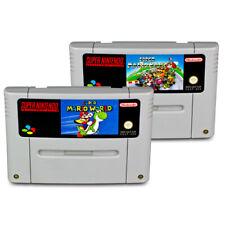 2 SNES Spiele SUPER MARIO WORLD + SUPER MARIO KART