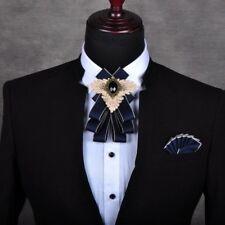hommes Cristal Satin carreaux noeud papillon classique COSTUME COL décor