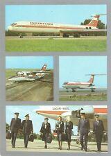 Flugzeug, IL 62, Let L-410, DDR Fluggesellschaft Interflug, alte Ansichtskarte