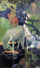 Art Paul Gauguin White Horse Mural Ceramic Bath Backsplash Tile #1632