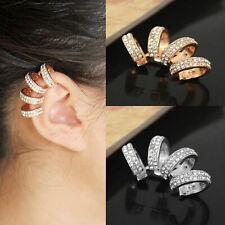 Classy and Stunning  Four Ring Rhinestone Ear Cuff (JEC26)
