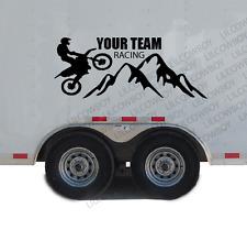 Custom Race Decal Motocross Bike team Dirt Kart Trailer Vinyl Car sticker RC21