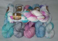100 gr Sockenwolle FARBKLEXX 4-fach v Rellana handgefärbt, weich mit Merinowolle