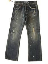 New 575 Men's Denim Jeans - Japanese Painter Splatter Dark Vintage - 28, 29